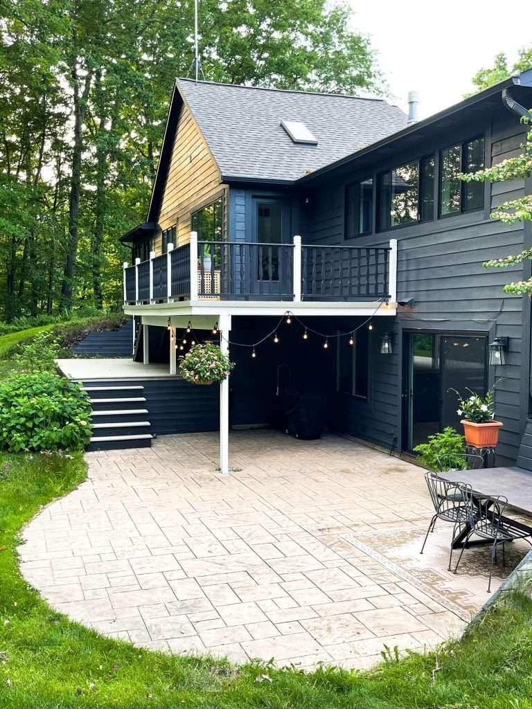 Backyard living patio area
