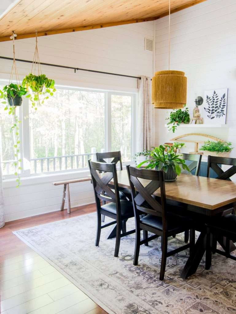 Hanging plants to help simplify your home.