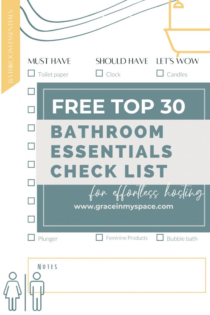 Guest Bathroom Essentials List for Effortless Hosting