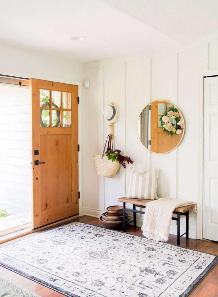 modern farmhouse entryway rug