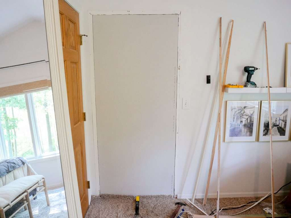 Patched drywall