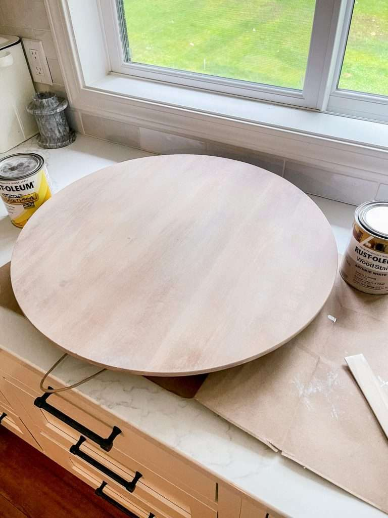 Antique white wood stain