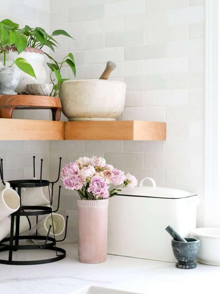 Terra cotta vase upcycled