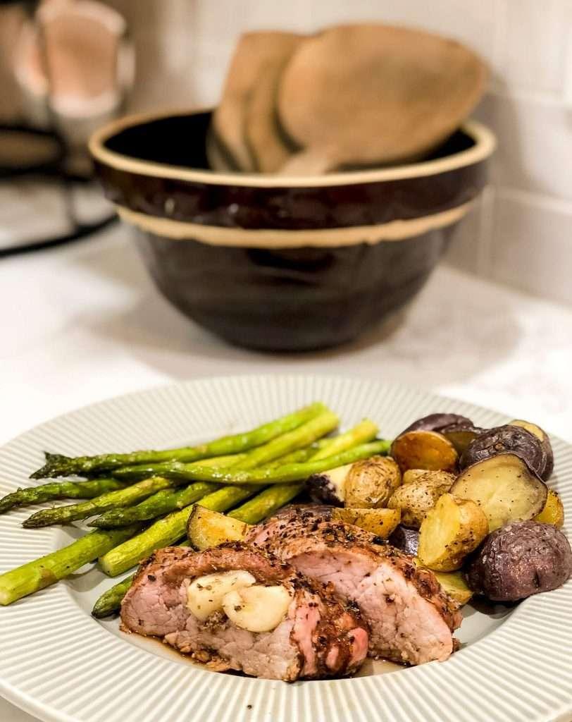 Pork tenderloin dinner idea