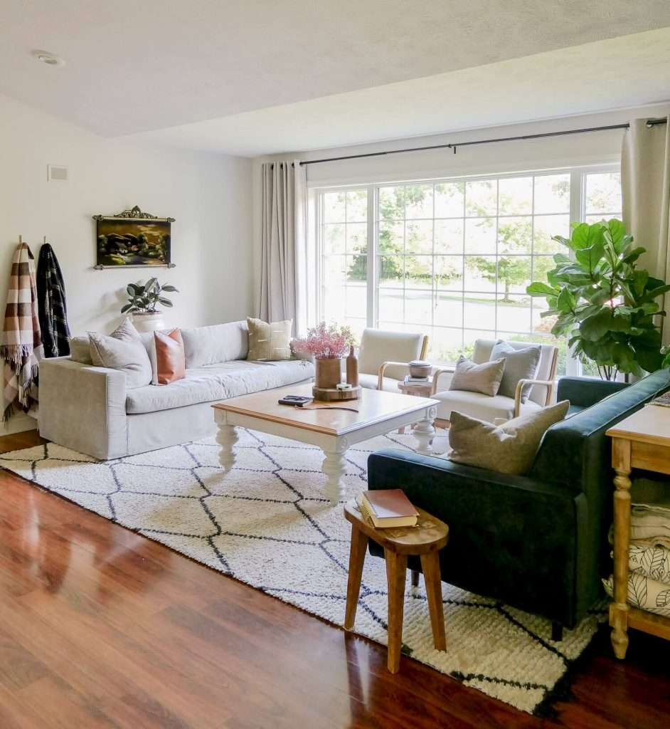 Decorating for fall without pumpkins in a living room