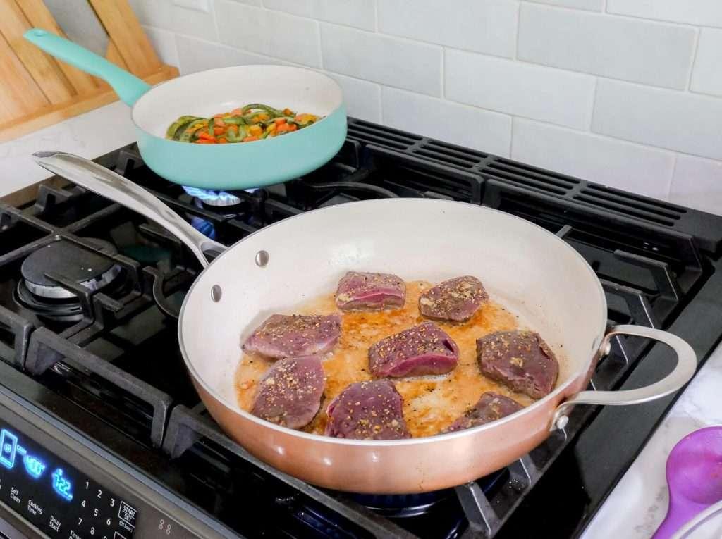 Cooking venison backstrap