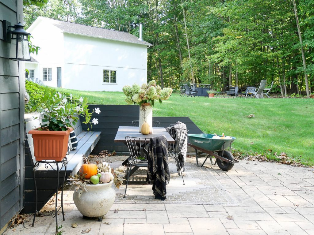 Cozy outdoor space in a backyard.