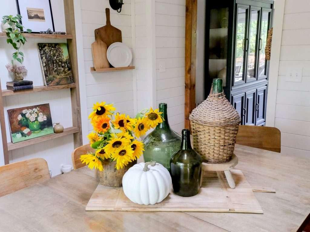 Fall table centerpiece.