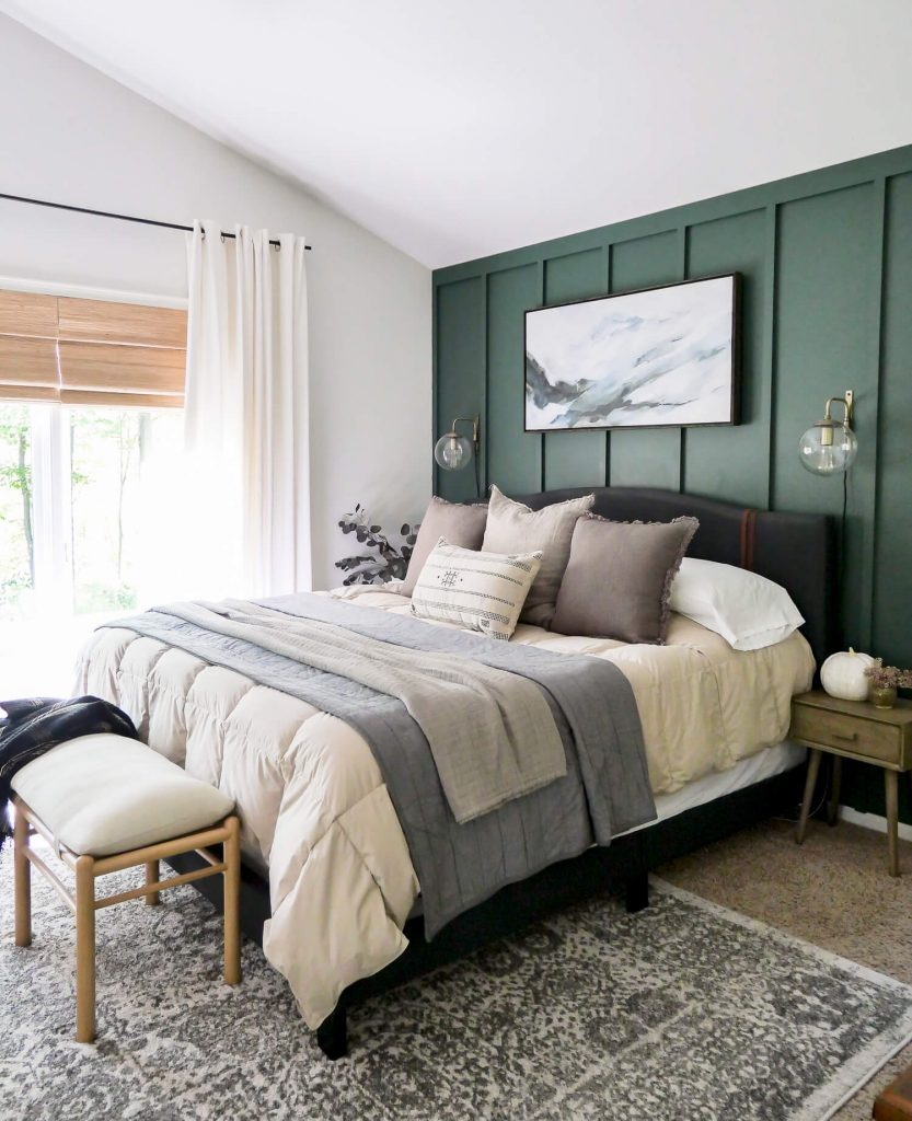 Fall bedroom decor.