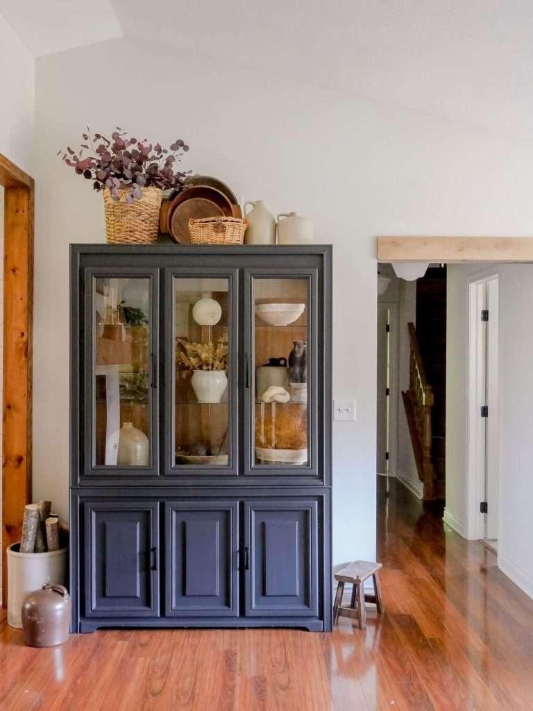 Fall decor cabinet