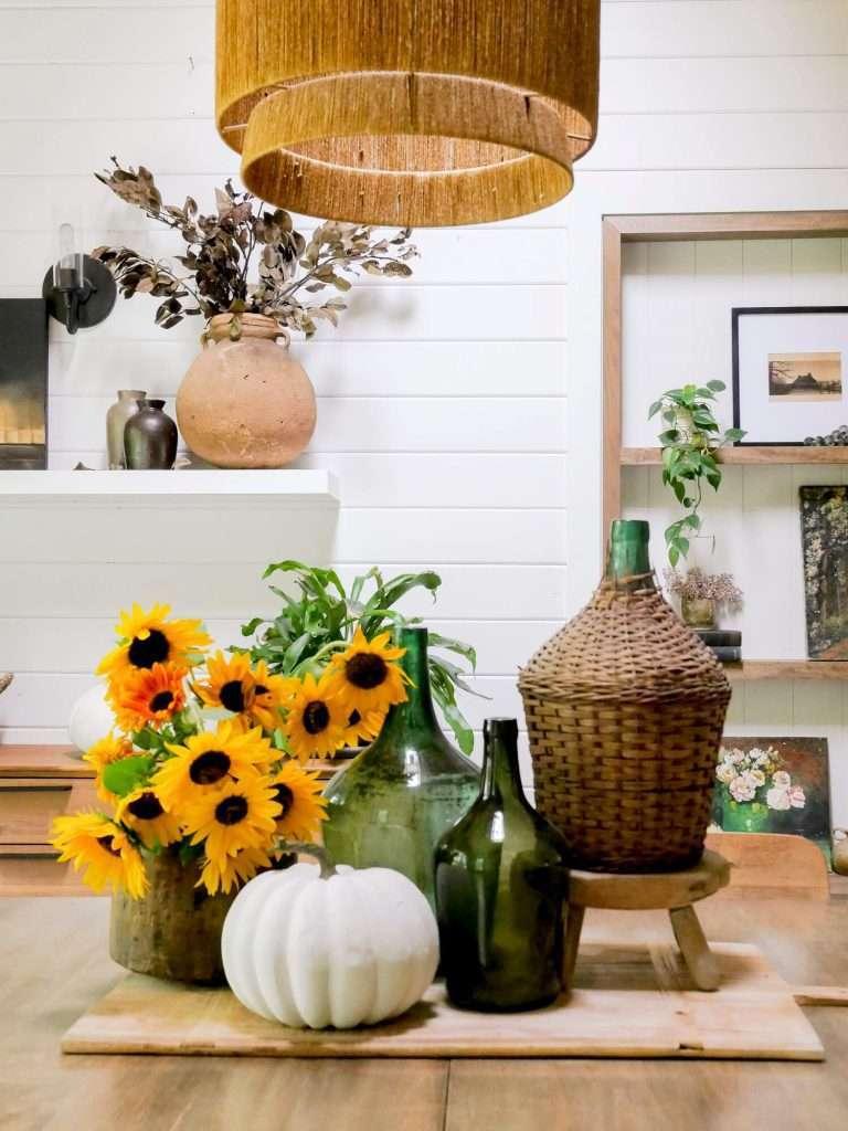 Final fall rustic farmhouse centerpiece.