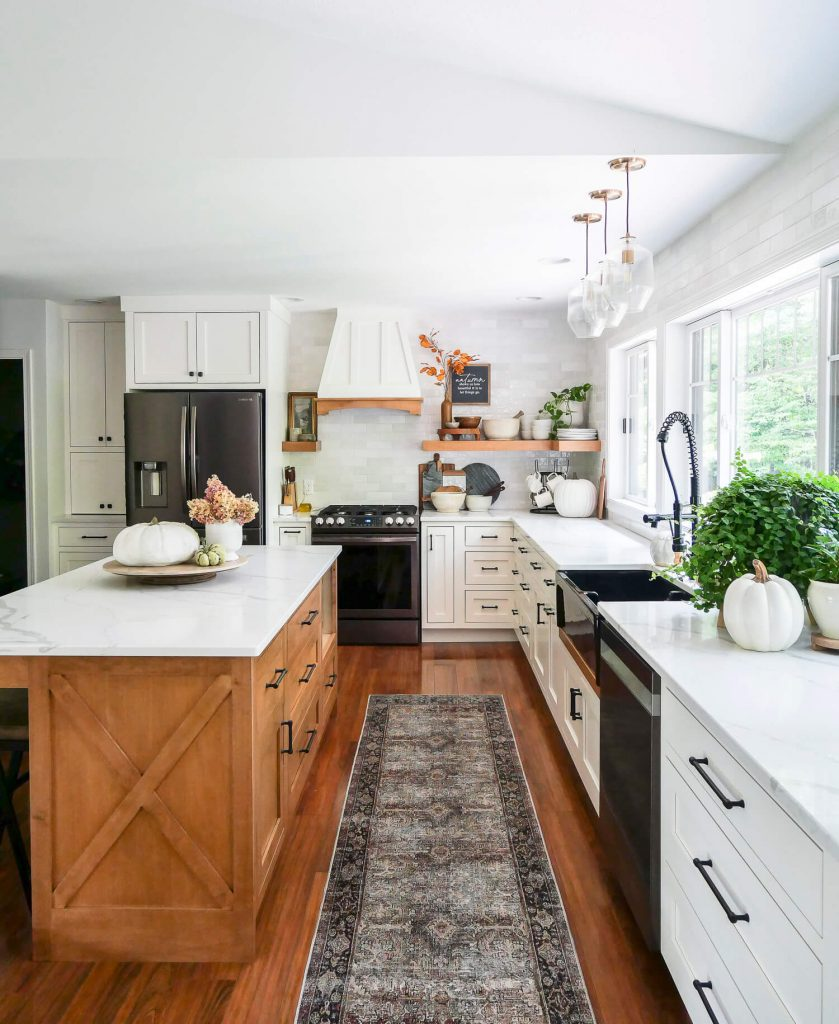 Fall decor in a vintage modern kitchen