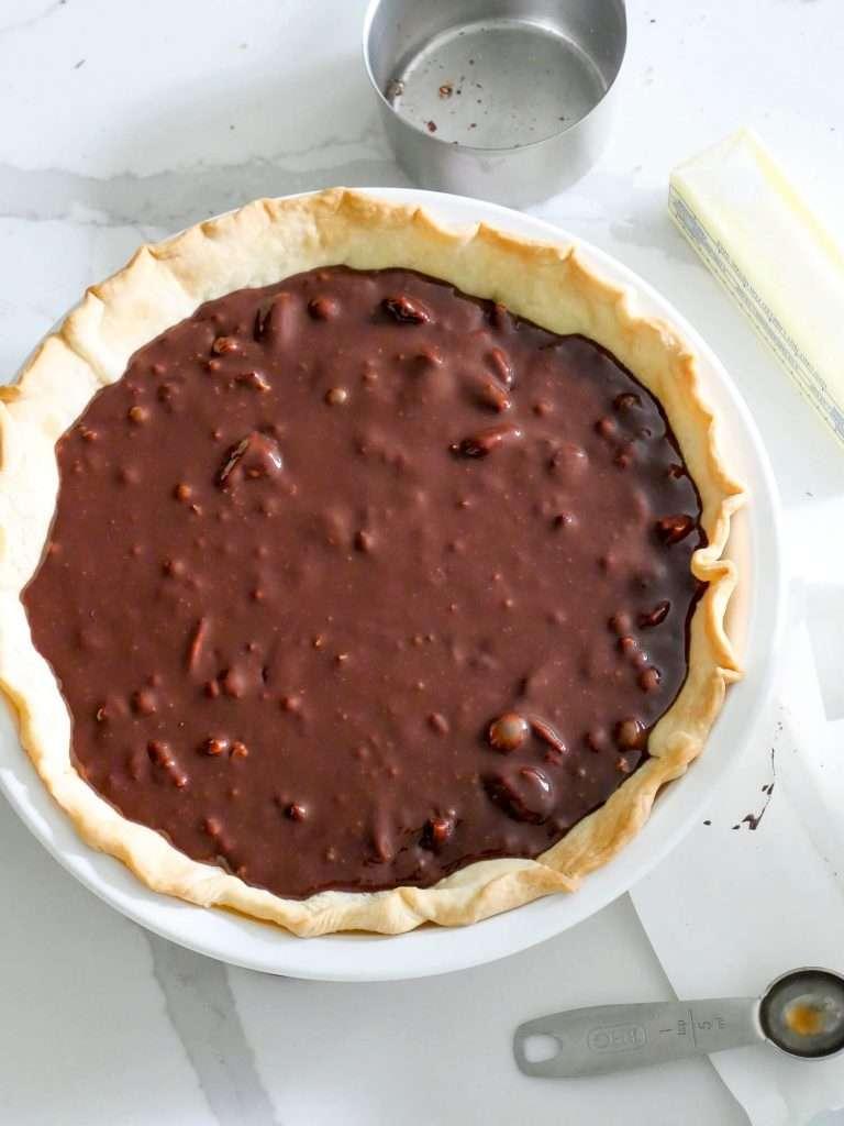 Coconut Pecan German Chocolate Pie filling