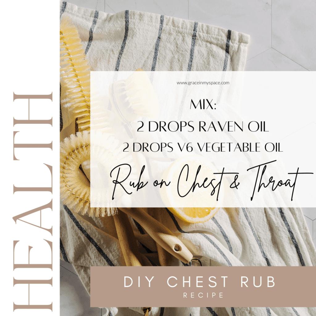 DIY chest rub recipe