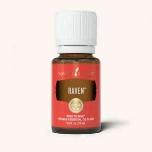 Bottle of raven essential oil